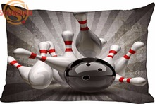Hot Nice Bowling Ball Rectangle Pillowcase zipper Wedding Custom Pillow Case For Bedroom A3.27#94(China)