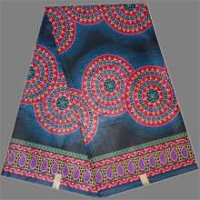 Graceful design ankara wax African real cotton printed java wax fabric RWF125(6yards/pc)(China)