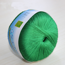 Natural soft tencel Blended cotton yarn Silk knitting yarn skein worsted crochet yarn for knitting thread 100 grams/skein
