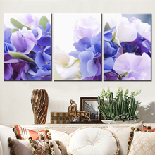 Oil Painting Canvas Print Flower Modern Home Decoration Picture Canvas Art Work Gift for Living Room Wall Poster 3pcs