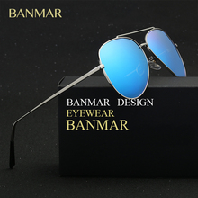 BANMAR Polarized Mens Black Aviator Sunglasses Women Brand Driving UV400 Glasses Female Men Driver oculos de sol feminino BM6060