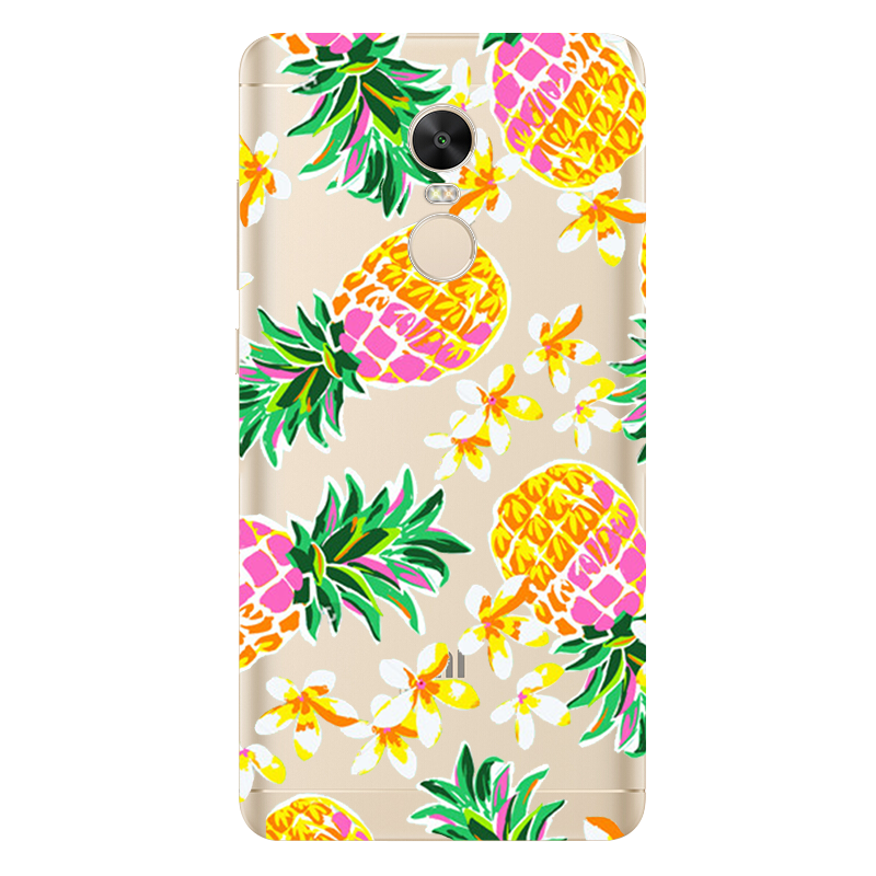 Banana Pineapple Cover Case for iPhone 7 4 4S 5 5S 5C SE 6 6S Plus For Xiaomi Redmi 4 4A 3S 3 S 4X Note 3 4 Pro Prime 4X