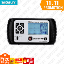 all-sun 2 in1 Multimeter Oscilloscope 25MHz Digital Handheld Scopemeter Voltmeter Ohmmeter Capacitance EM125(China)