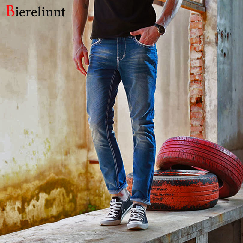 Fashion Straight Slim Fit Bierelinnt Brand 2017 New Jeans Men,Retail &amp; Wholesale Cotton Denim Good Quality Men Jeans,142015Îäåæäà è àêñåññóàðû<br><br>