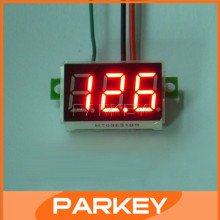 100 PCS/LOT DC Mini LED Red Digital Display Voltmeter 0-100V Car Motorcycle Battery Monitor Voltmeter Ear