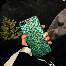 Green Sequins Crocodile Skin Case for iPhone 7 7plus Luxo,Funda for iPhone6s plus 6 6s 6splus Famous Brand PU Case(China)