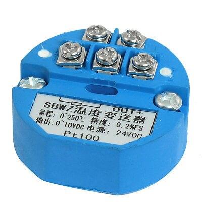PT100 Temperature Sensor Transmitter 0-250C Output 0-10V DC<br><br>Aliexpress