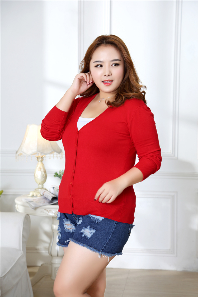 new Sweater Women Cardigan Knitted Sweater Coat Crochet Female Casual V-Neck Woman Cardigans Tops plus size 100KG 14