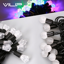 VILIP String Light 5M 40LED String lamps Christmas holiday Wedding party decoration fairy light lamp Indoor&Outdoor Garden Bulb(China)