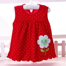 Baby girl Dress 2017 summer girls dresses style infantile Dress hot sale baby girl clothes Summer flower style dress low price(China)