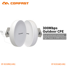 COMFAST wifi router outdoor CPE wireless repeater 300mbps router bridge outdoor wifi repeater for long range IP camera project(China)