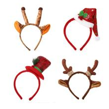 Christmas hat Giraffe Children Christmas decorations Christmas headdress party props children gifts Christmas supplies headband(China)