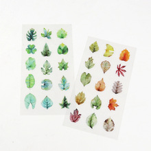Spring and Fall Leaves Shape PVC Environmental Stickers Decorative DIY Scrapbooking Keyboard Personal Diary Stationery Stickers