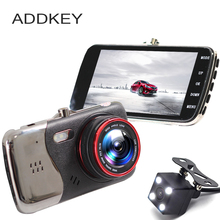 ADDKEY Original 4.0 Inch IPS Screen Car DVR camera dual lens rearview Camera T810 Oncam Dash Camera Full HD 1080P Video Dash Cam