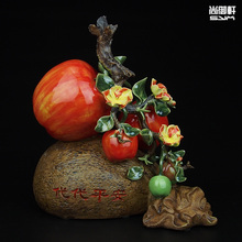 Shiwan doll designer boutique creative ceramic ornaments apple Home Furnishing bedroom living room furnishings and accessories g(China)