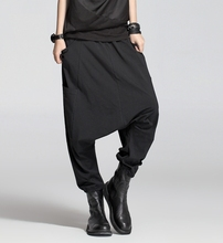2014 new wide-legged pants irregular cotton and linen literary style leisure all-match trousers culottes Pants 16962