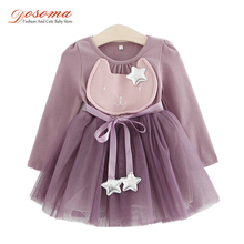 DOSOMA Baby Girl Clothes Spring Fashion Costume For Kids Casual Dresses For Toddler Girls Dresse Yarn Party Children Clothing