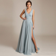 2018 Formal Dresses Chiffon Custom Made Vestidos Longo Vestido De Festa Sexy Pageant Gowns For Women Robe De Soiree(China)