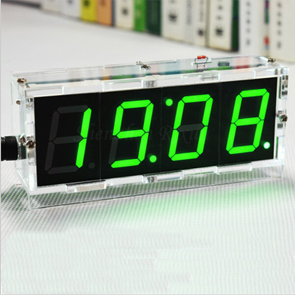 Electronic Clock LED Microcontroller Digital Time Date LCD Display Light Control