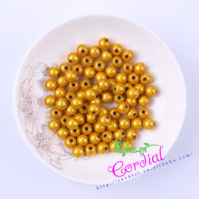 Hot Sell Free Shipping 500pcs/lot 8mm Chunky Color Miracle Bead Yellow Beads For Handmade Jewelry Ebay Suppliers CDWB-517784