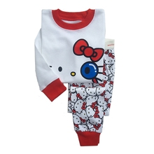 girls Pajamas Captain America Cartoon Spiderman Cotton Long Sleeve Hello Kitty Baby Kids Pijamas Boys Sleepwear Children Pyjamas