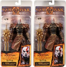 "7.5"" NECA God of War Kratos in Golden Fleece Armor with Medusa Head PVC Action Figure Collection Model Toy Free Shipping 1Pcs"
