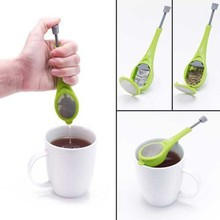 Good Quality Hand Hold Flavor Total Tea Infuser Gadget Measure Swirl Steep Stir And Press Food Grade Plastic Tea&Coffee Strainer