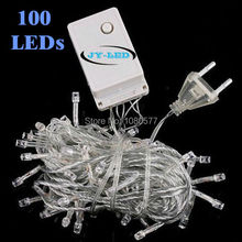 10M white red blue RGB twinkle decoration light, 220v 100 LED fairy lights string for Christmas Party Wedding lighting