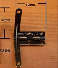 10pcs 30*33MM Packaging Hardware Hinge Support Extremely Heavy Steel with Antique Bronze plated Gift Box Jin Hinge