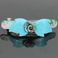 Size 90mm*28mm Floral Hairgrips , Spring Hair clips For Office lady , Hair pins for party, For Girlfriend gift , barrettes