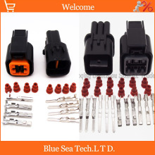 Sample,2 sets 4 Pin and 2 sets 6Pin male&female Auto Head lamp plug connector  for HYUNDAI,KIA,Elantra etc.