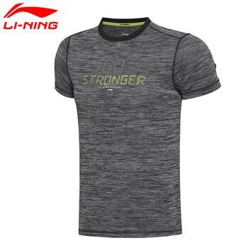 Li-Ning Men's Traning T-Shirt Gym Sports Quick Dry Comfort 100% Polyester Sports Tee ATSM157 MTS2009