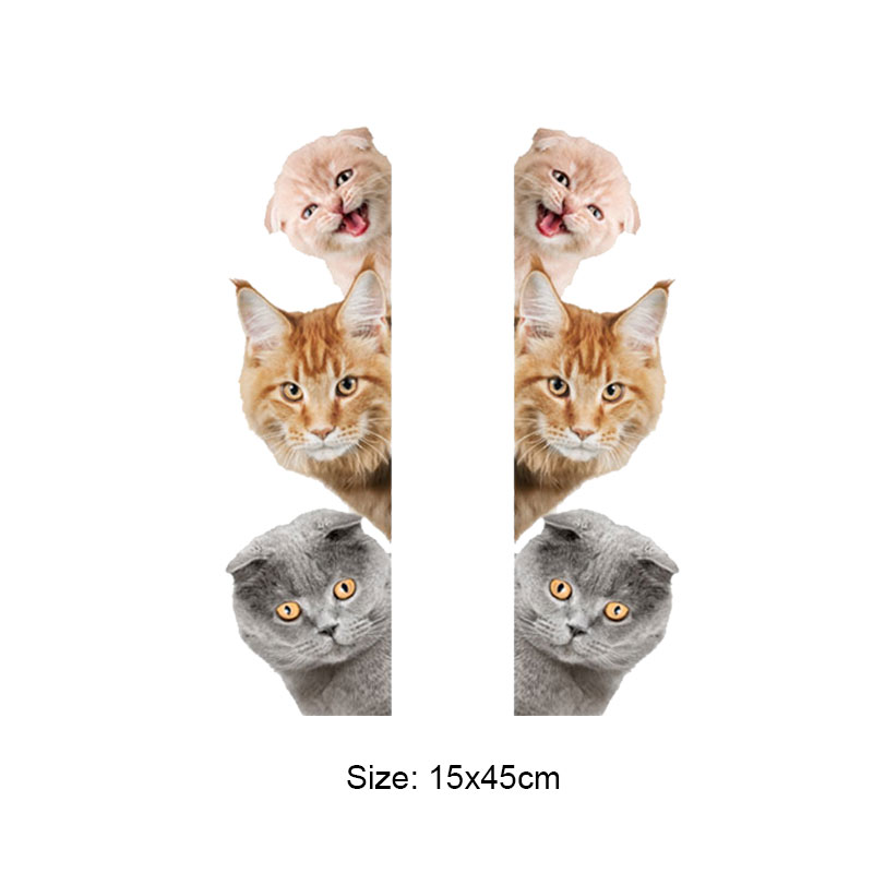 Cats 3D Wall Sticker Funny Door Window Wardrobe Fridge Decorations for Kids Room Cats 3D Wall Sticker Funny Door Window Wardrobe Fridge Decorations for Kids Room HTB1L0zknkfb uJjSsrbq6z6bVXaD