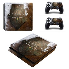 Destiny PS4 Slim Skin Stickers Wrap for Sony PlayStation 4 Slim Console and 2 Controllers Decorative Skins