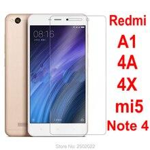 xiaomi redmi 4a protective glass Ksiomi red mi 4x protect glass xiomi xiami xaomi A1 Note 4 mi5 screen Tempered Film