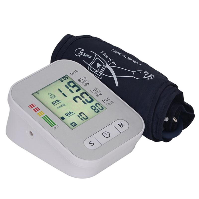 Digital Arm Blood Pressure Monitor Household Health Care Electronic Tonometer Sphygmomanometer Measurement Pulse Monitors 12