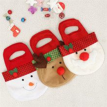 Christmas Santa Clause Snowman Elk Candy Toy Gift Bag Sweet Stockings Gift Holders Christmas Decor