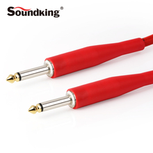 Soundking Instrument Cable Mono 6.35 jack to 6.35 male Guitar Cable 3M 6M 10M suit for connection of Amplifier speaker  B17