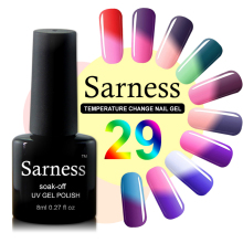 Sarness Gel Nail Polish Temperature Changing Color Hybrid Gel Varnish Soak off UV LED Gel Lukcy Chameleon Nail Polish