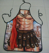 Mr.Kooky Roman Warrior Rude Cheeky Cute BBQ Aprons Men Women Christmas Halloween Birthday Gag Party Dress Props Cool Funny Gifts