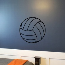 Volleyball Adhesive Wall Decal Playroom Vinyl Art Mural Net Beach Pool Sports Themed Kids Nursery Wall Decal PVC Pattern SYY208