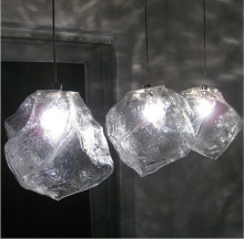 Italian fashion lighting design Ice stone  creative 1 light glass chandelier Restaurant cafe sitting room lamps