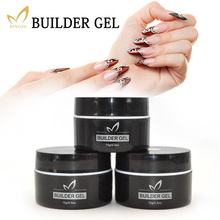 MONASI UV LED Builder Gel Varnish 8 Colors 15ml For Finger Nail Extension Transparent Camouflage Polish For The French Manicure