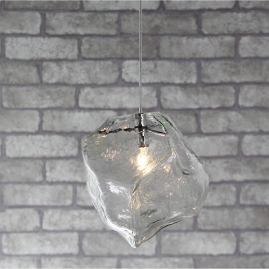 Free shipping ice style pendant light 1 head modern style crystal restaurant glass pendant lamp for dinning room 110-240V<br>