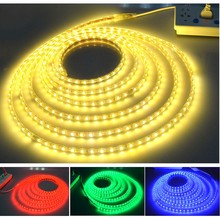 60 LEDs/M SMD5050 Red/Green/Blue/Yellow/Warm/Cool White LED Strip Lights IP68 Waterproof LED Neon Sign Light AC 110-240V 5M/lot
