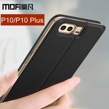 "Buy Huawei P10 case flip 5.1 inch MOFi Huawei P10 Plus case cover original leather back silicon capas Hauwei P10 Plus + 5.5"" case for $8.99 in AliExpress store"