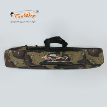 Fishing Tackle Bag 80cm Fishing Rod Bag Multifunctional Camouflage Double Layer Outdoor Fishing Bag(China)
