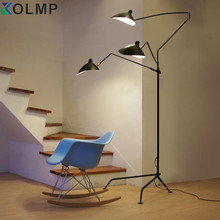 1 arm/3 arms Standing Lamp Nordic Iron Floor Light Replica Designer iron Black/White Floor Lamp industrial Loft(China)