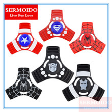 Buy SERMOIDO New Finger Gyro Three Corner colorized Finger Spinner Autism ADHD Hand Spinner Anti Stress Gift Toy A127 for $4.74 in AliExpress store
