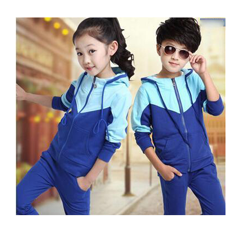 2017 Children Boy Girl Clothing Set Boy Sports Suits 3-14 Years Kids 2pcs Sets Spring Autumn Clothes Tracksuits<br>